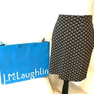 Black and Gold J.McLaughlin Pencil Skirt
